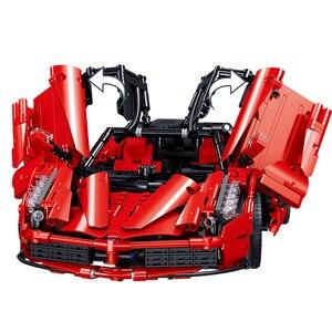 Image 4 - 市レーサーエンツォスーパーレーススケールスポーツカーセットテクニックスピード車ビルディングブロックレンガ子供のおもちゃクリスマスプレゼント