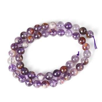 """Puro titanio Natural rutilado auralita 23 Phantom cristal auralite-23 cuentas 6/8/10/12mm perlas sueltas de piedras preciosas para Jewelry15.5"""""""