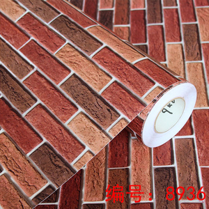 Image 2 - 0.4x5M Vintage 3D Living Room TV Background Wall Paper Brick Pattern Wall Painting Bedroom Wallpaper Self Adhesive Wallcovering