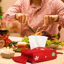 Christmas Handmade Candy Paper  Cute Towel Set Dinner Home Party Table Decoration