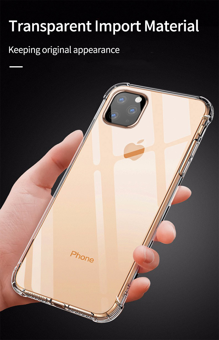 Shockproof Bumper Clear Silicone Case for iPhone 11/11 Pro/11 Pro Max 5
