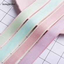 Kewgarden Twill Cotton Ribbon 1.5 1 38mm 25mm 16mm Handmade Tape DIY Corsage Hair Bows Accessories Packing Ribang 10 Yards