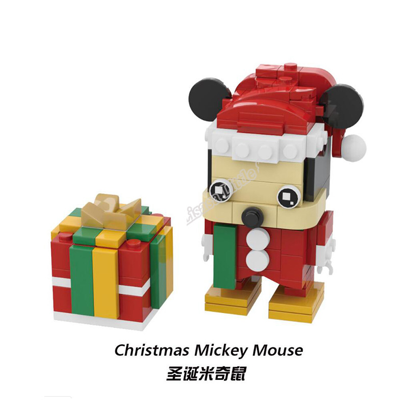 New Brickheadz Bell Beauty And The Beast Girl Friends Princess Creator Winter Legoinglys Christmas Tree Snow Toys For Children 39