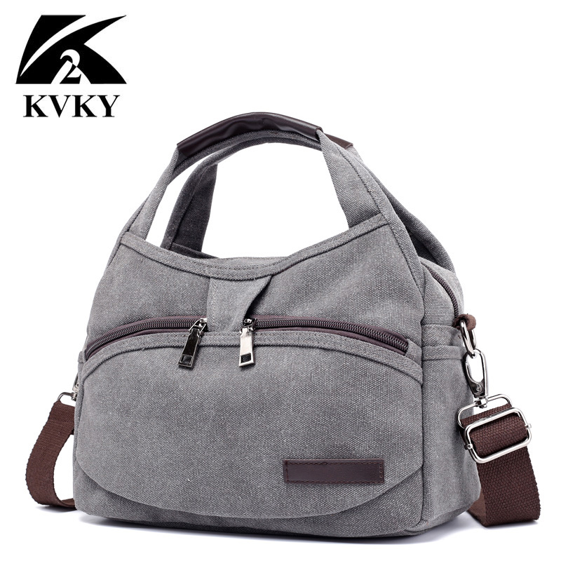 KVKY New Canvas Bags For Women Brand Handbags Women Crossbody Bags  Multifunction Small Summer Handbags Vintage Crossbody Bags