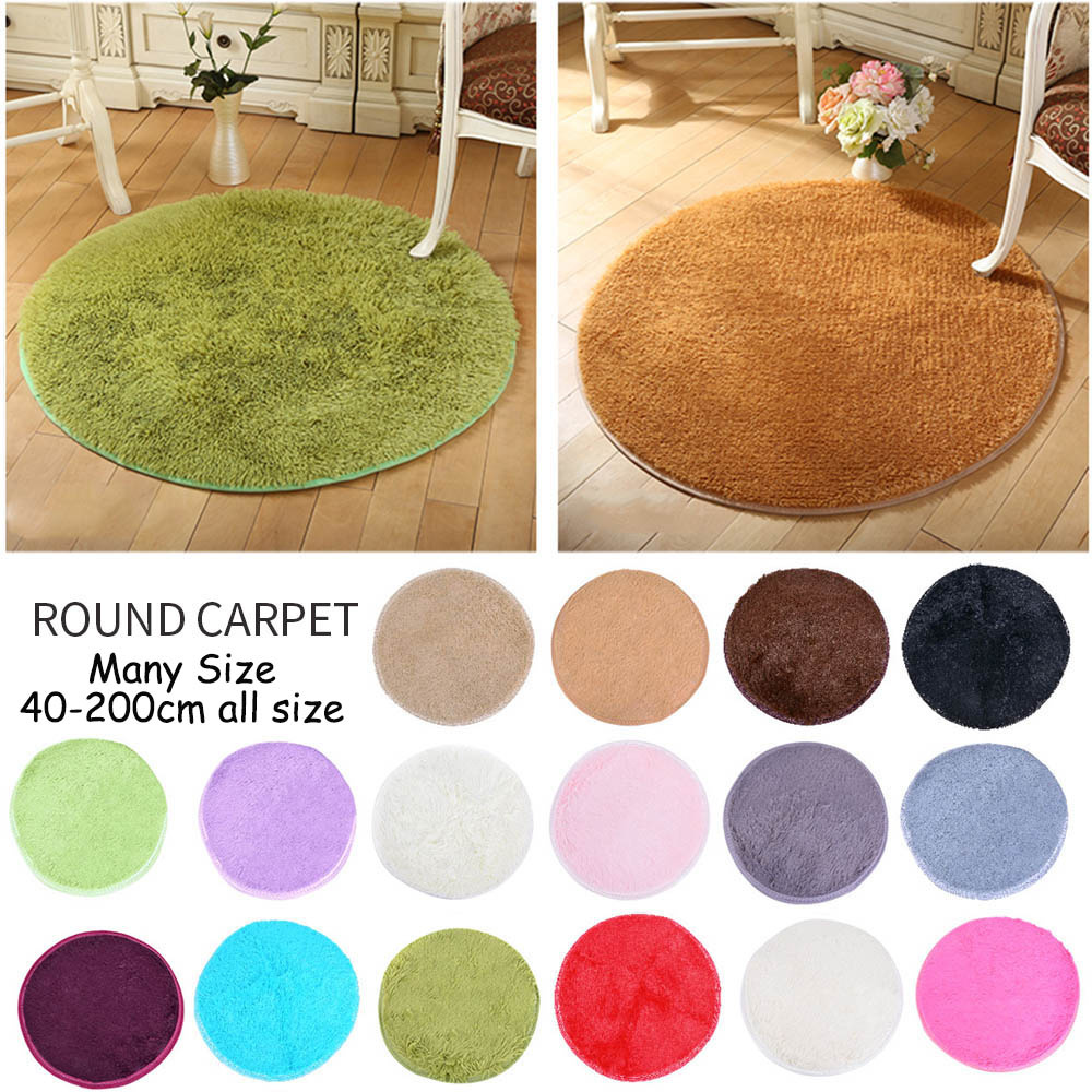 Microfine Round Modern Soft Carpet Nordic Kids Rug Indoor Parlor Rug Bedroom Besides Child Room Mats Living Room 2019