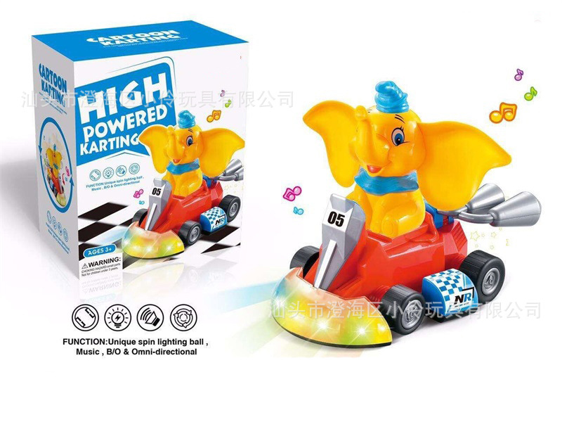Douyin Celebrity Style Children Electric Universal Cartoon Elephant Karting Light Music Dumpers CHILDREN'S Toy
