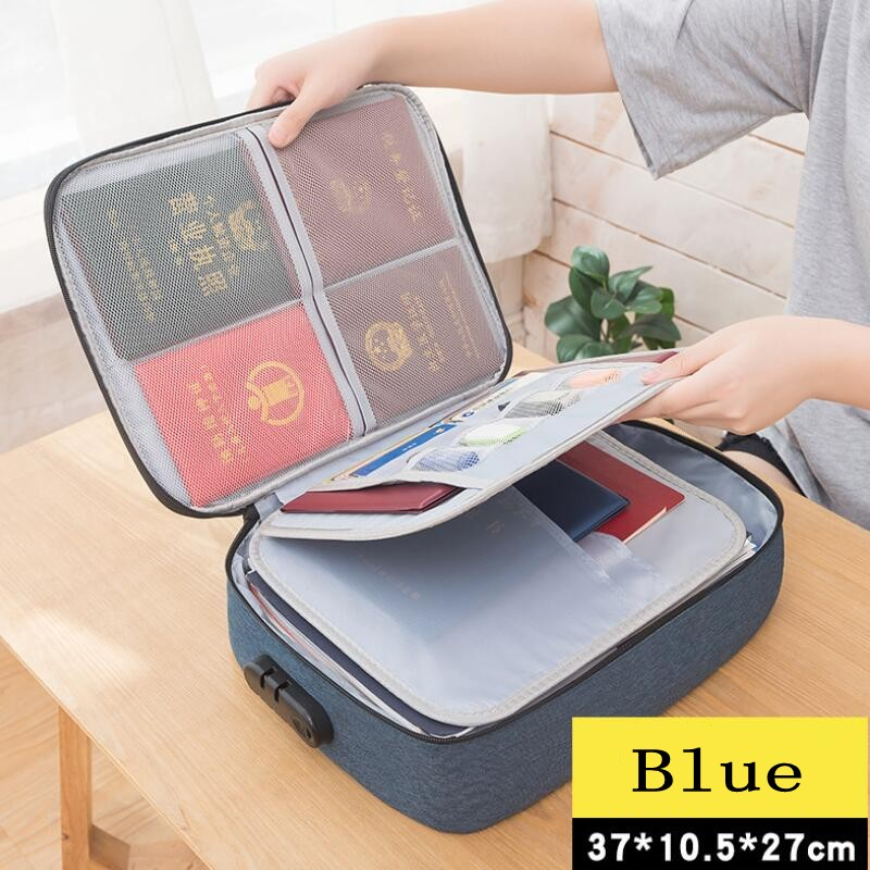 New Document Ticket Bag Large Capacity Certificates Files Organizer For Home Travel Use to store Important Items Filing Products
