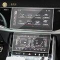 Для Audi Q7 Q8 2020-2021 автомобиля GPS навигации пленка ЖК-дисплей экран защитная пленка из закаленного стекла с защитой от царапин пленка аксессуар...
