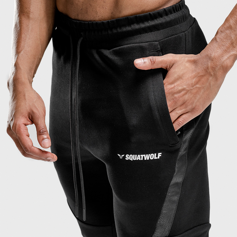 Muscle Brothers Fitness Pants New European And American Fitness Men Cross Border Running Casual Pants Stretch Breathable
