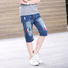 Summer Jeans Shorts Denim Clothing Kids Child Casual Straight IENENS Young-Boy