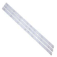 (Novo kit) tira led de retroiluminação led, 3 peças 7led 625mm para pro gruncavar 32cle6525bg LM41 00100A