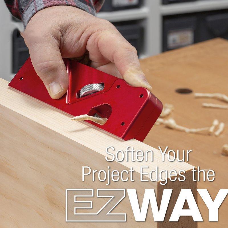 Riiai Woodworking Edge Corner Plane,Block Planer Woodworking Planer Chamfering Trimming Planer DIY Hand Tool Woodcraft Corners Edge Carpenter Gift,Red