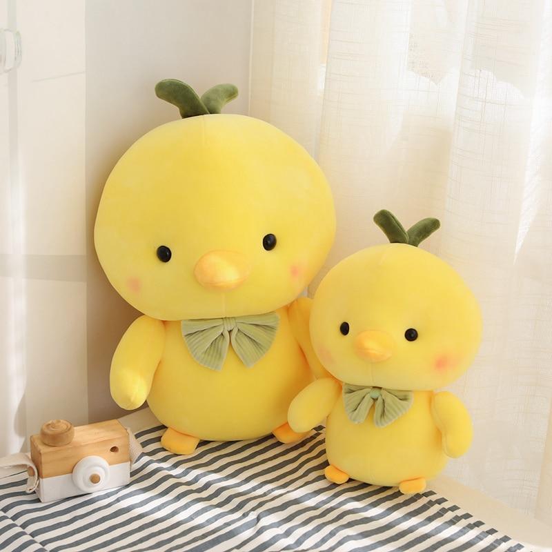 1PC 25-50CM Creative Small Yellow Chick Chicken Stuffed Animal Plush Toy Cute Chicken Plush Doll Pillow Boy Girl Birthday Gifts