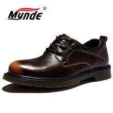 Mynde chaussures Oxfords en cuir véritable pour hommes, chaussures de luxe faites à la main, chaussures de travail pour hommes, chaussures décontractées, plates, tailles 38 à 47