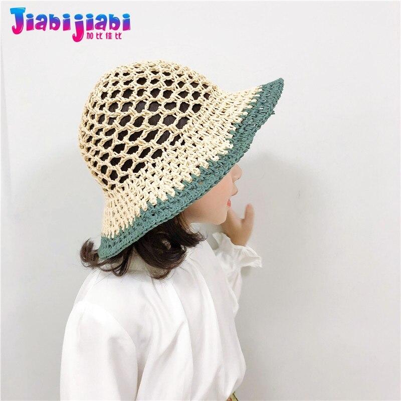 Kids Sun Hat Boys Girls Summer Beach Hat Cotton Bucket Wide Brim Toddler 1-8 Yrs