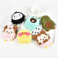 Monedero de dibujos animados M465 para mujer, oso, gato, oso, aguacate, pato, cero, monederos, regalo para niña, venta al por mayor