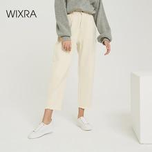 Wixra pantalon pour femme, jean Long, élégant, solide, taille haute, avec poches, collection printemps automne 2019