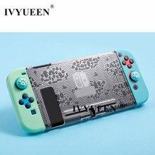 IVYUEEN per Nintendos Interruttore NS Console Animal Crossing Dura Protettiva di Caso per Nintend Interruttore JoyCon Gioia Con Posteriore Borsette Copertura