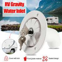 Tanque de escotilla accesorios de filtro fresco remolque RV bote de entrada de relleno cuello caravana gravedad entrada de agua de plástico bloqueable
