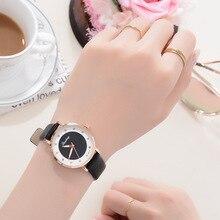 цена на Women Watches 2019 Fashion Luxury Brand Diamond Quartz Ladies Wrist Watch Leather Band Clock  Relogio Feminino Young Casual