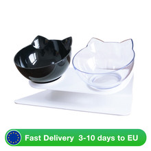Cat-Bowls Feeders Double For Cats Raised-Stand Non-Slip with Pet-Food Dogs