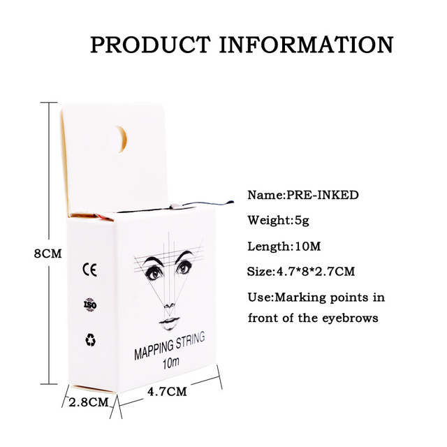 2020 Mapping Pre-ink String for Microblading Eyebow Make Up Dyeing Liners Thread Semi Permanent Positioning Eyebrow Measuring 1