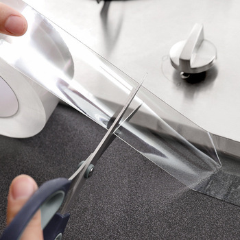 Sink Kitchen Waterproof Transparent Tape Nano Mildew Strong Self-Adhesive Pool Water Seal Bathroom Gap Strip Silicone Stickers 1