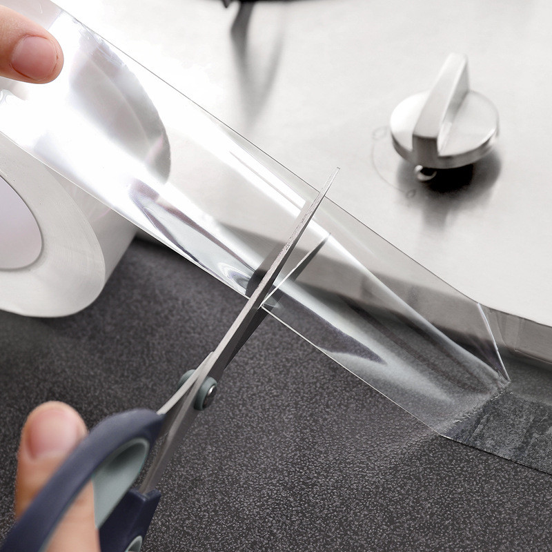 Pia da cozinha impermeável fita transparente nano oídio forte auto-adesivo piscina selo de água do banheiro gap strip silicone adesivos