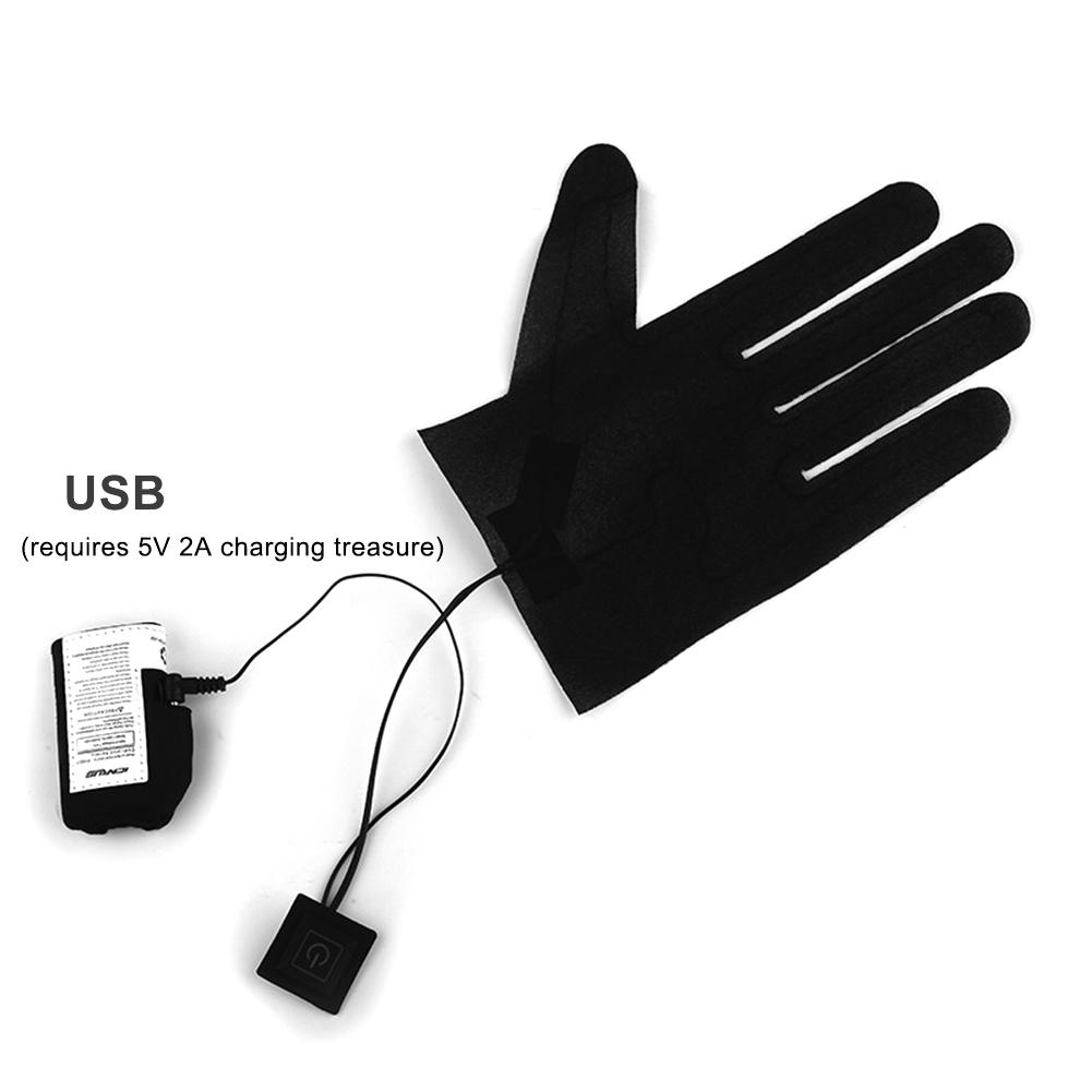 New 1Pc Five-finger Gloves USB Electric Heating Pads Lithium Battery Power Supply Three-speed Thermostat Switch Heating Sheet