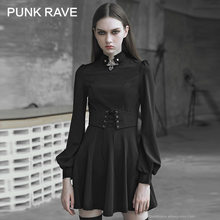 Женское готическое платье в стиле панк металлическое с декоративной