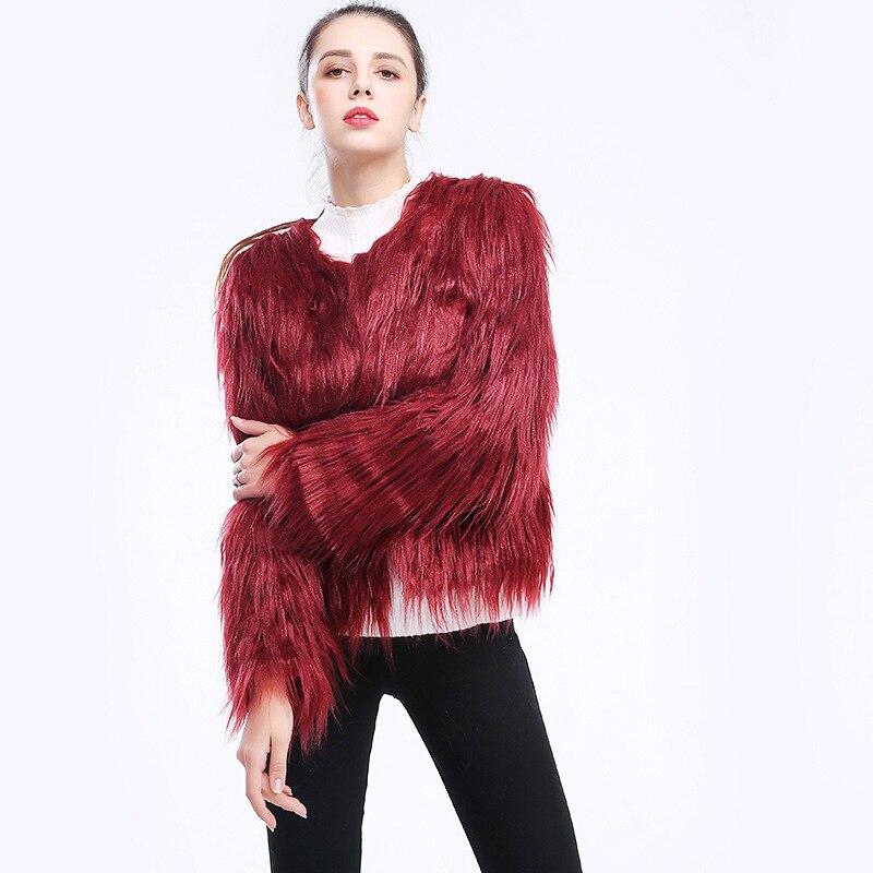 Winter Jacket Women 2020 Faux Fur Coat Plus Size Streetwear Jackets Autumn Ladies Leather Clothes Casaco Feminino LWL756