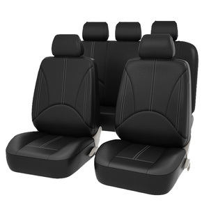 Image 2 - New Luxury PU Leather Auto Universal Car Seat Covers for gift Automotive Seat Covers Fit most car seats Waterproof car interiors
