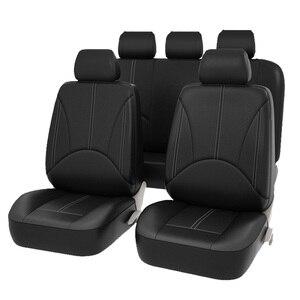 Image 2 - 新しい高級puレザーオートユニバーサルカーシートは、ギフト用自動車シートカバーフィットほとんどの車の座席防水車インテリア