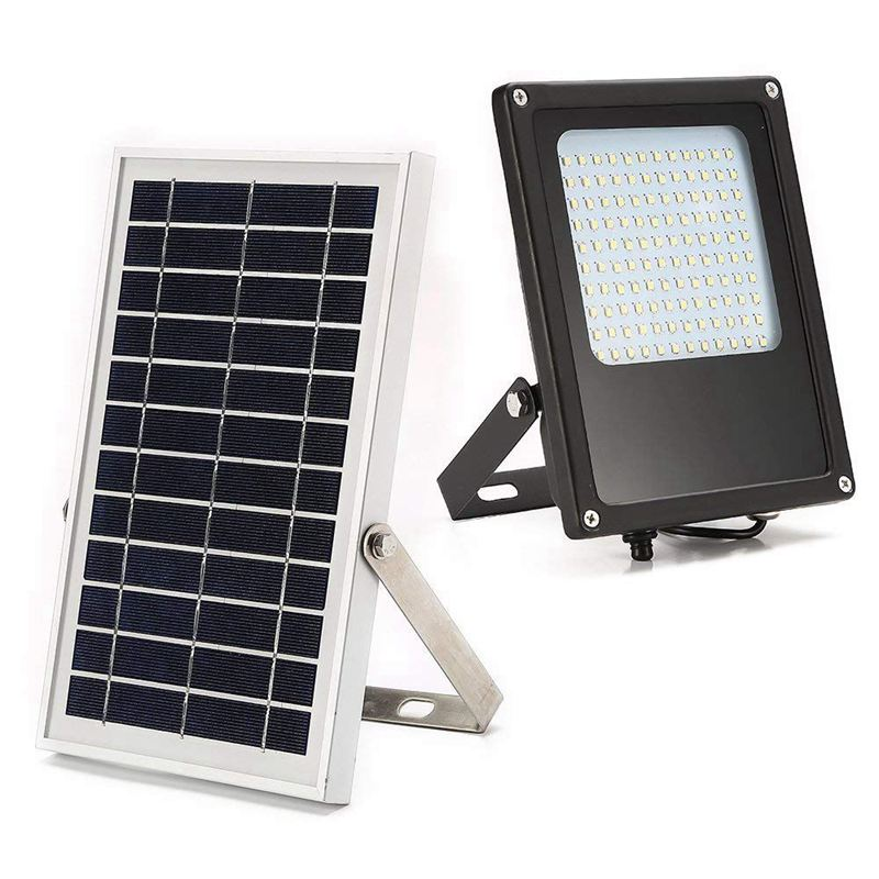 Solar Powered Led Flood Light, IP65 Waterproof Outdoor Security Flood Light Fixture For Flag Pole, Sign, Garden, Farm, Shed, Boa