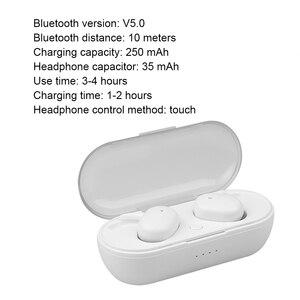 Image 5 - Kebidu W13 TWS Bluetooth Kopfhörer Touch Control Stereo Bass Drahtlose 5,0 Headset Sport Ohrhörer Mit Mic Freisprecheinrichtung Für Xiaomi