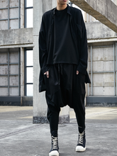 Original new harem pants men's loose hip-hop casual pants dark sling pants men's trousers barber shop work clothes
