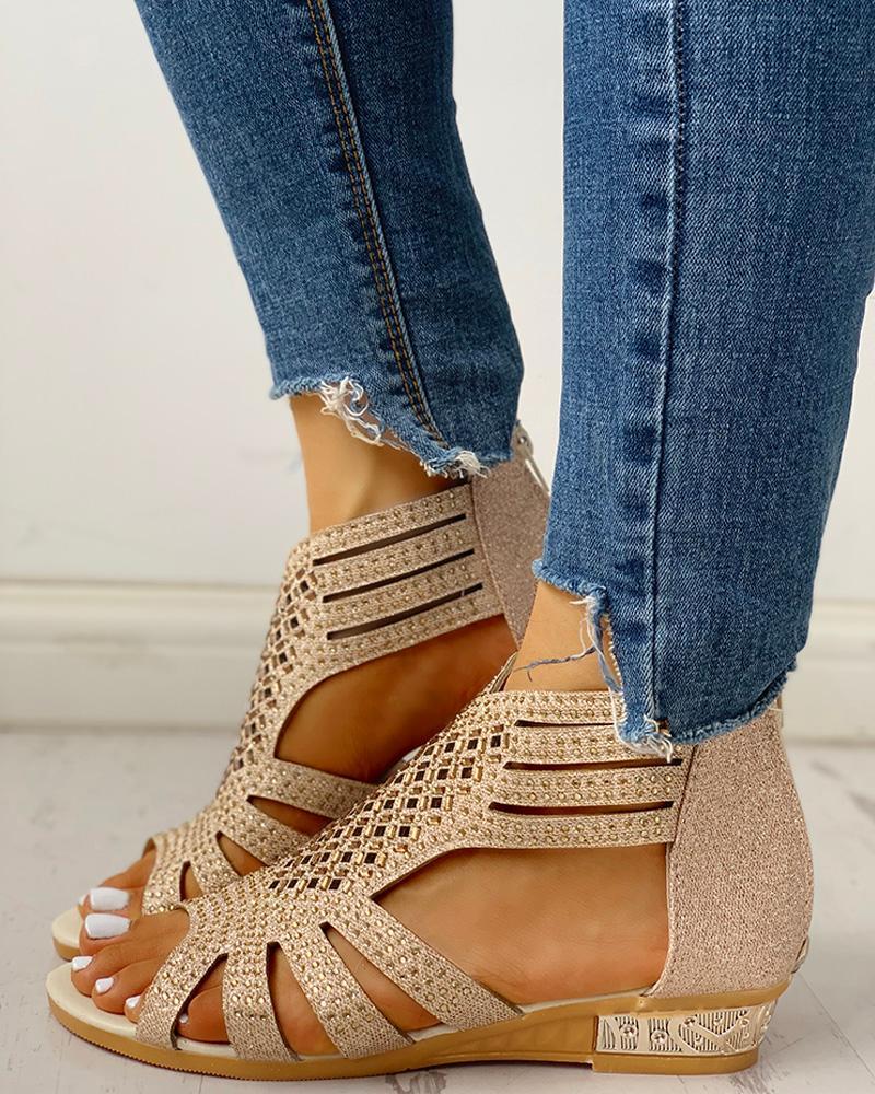 Women Fashion sandals summer shoes new leather slipper beach shoes plus size DD293