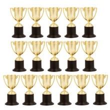 16 adet Mini ödül Trophy kupası şekilli yaratıcı plastik kupa ödül kupası ödül ödülleri öğrenciler spor yarışması kutlamalar