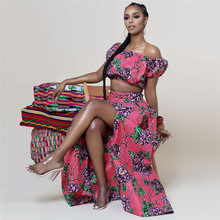 African Dresses for Womens Explosion Models Fashion Autumn Positioning Printing dashiki dress