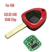 Chiave a distanza per auto Datong World per Ferrari 458 Italia California 599 GTB Fiorano FF ID48 Chip 434Mhz ASK 3 Button sostituisci Smart Key