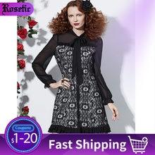 Rosetic женское платье элегантное черное готическое лоскутное