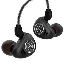 TRN V90 4BA + 1DD 5 sürücü hibrid kulak monitörü kulaklık kablolu gürültü iptal Stereo 3.5mm Hifi kulaklık DJ koşu spor
