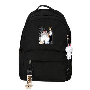 Image 4 - Spirited Away No Face uomo donna zaino rosa zaino piccolo Kawaii zaino da viaggio impermeabile borse da scuola per gatti carino Bookbag rosa