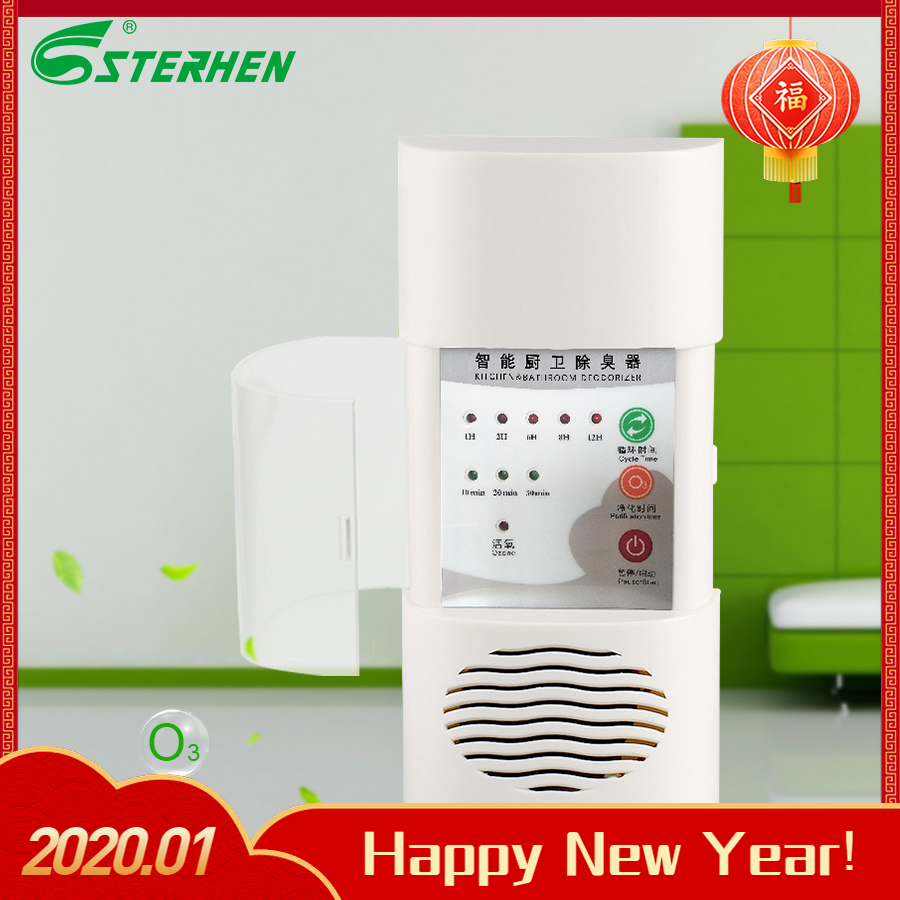 Mini desodorante de ozono montado en la pared para cocina baño tratamiento de aire ozono purificador de aire esterilizador doméstico