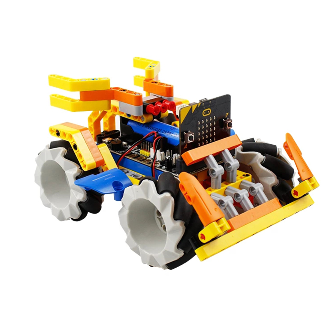 Program Intelligent Robot Building Block Kit Mecanum Wheel Robot Car For Micro: Bit (No Micro:Bit Board) Children Education Toys