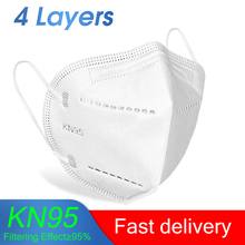 KN95 Mouth Face Mask 4 Layers 95% Filtration Anti Fog/Dust/Pollution/Flu Protective Face Mask Features as N95 FFP2 KF94