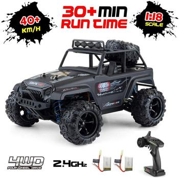 1:18 Scale RC Car All Terrain Off-Road Buggy 40KM/H High Speed 4WD Electric Vehicle 2.4 GHz Controlled Waterproof Truck
