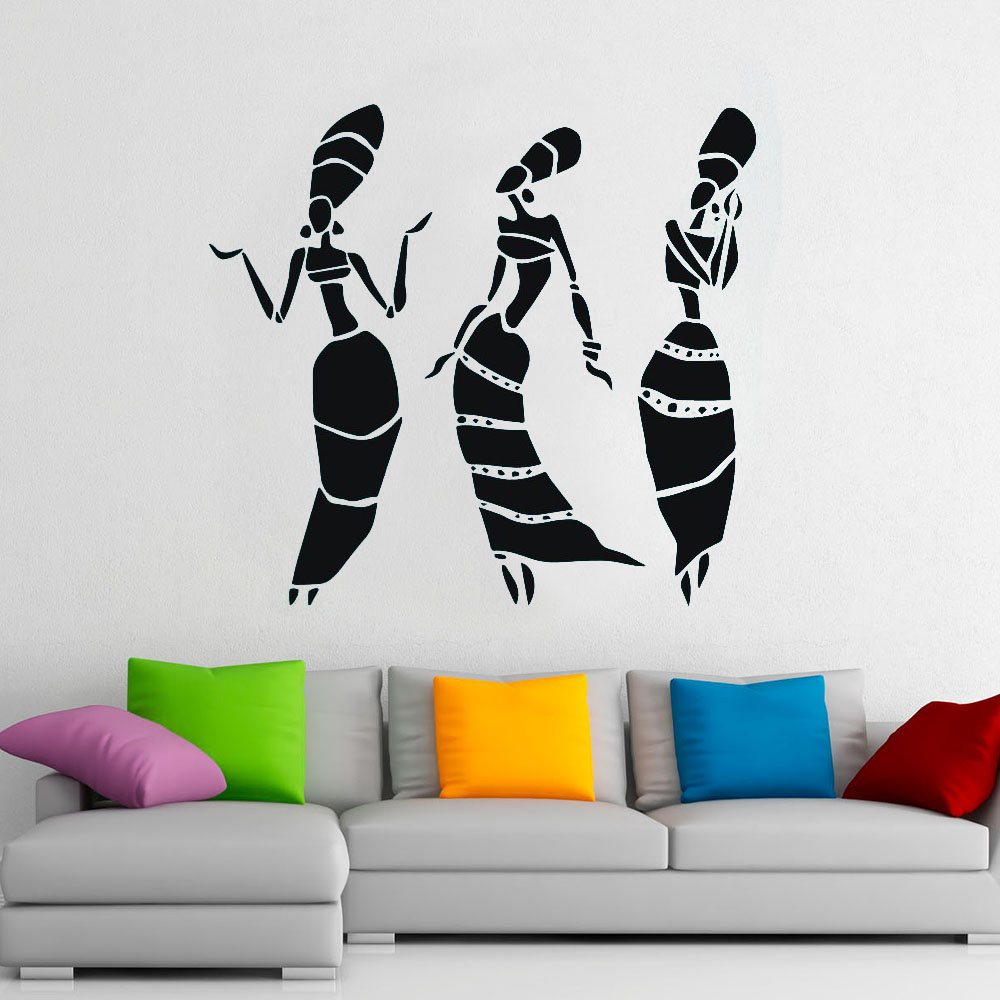 African Women Vinyl Wall Decals Africa Culture Home Decor For Living Room Or Museum Bedroom Home Décor Kolenik Handmade Products