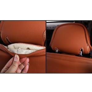 Image 4 - Kokololee Custom Real Lederen Auto Stoelhoezen Set Voor Opel Astra H G J Insignia Vectra B Meriva Vectra C mokka Auto Accessoires