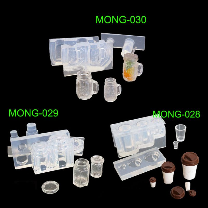 Drink Bottle Coffee Cup Honey Jar Resin Silicone Molds Epoxy Resin Jewelry Tools Epoxy Resin For Jewelry Making Gifts